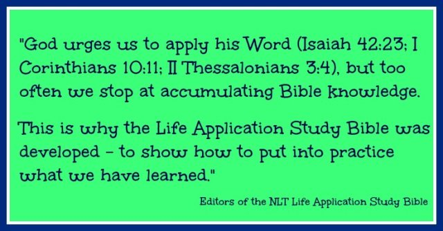 Life Application Study Bible Quote