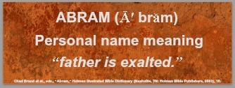 The Name Abram