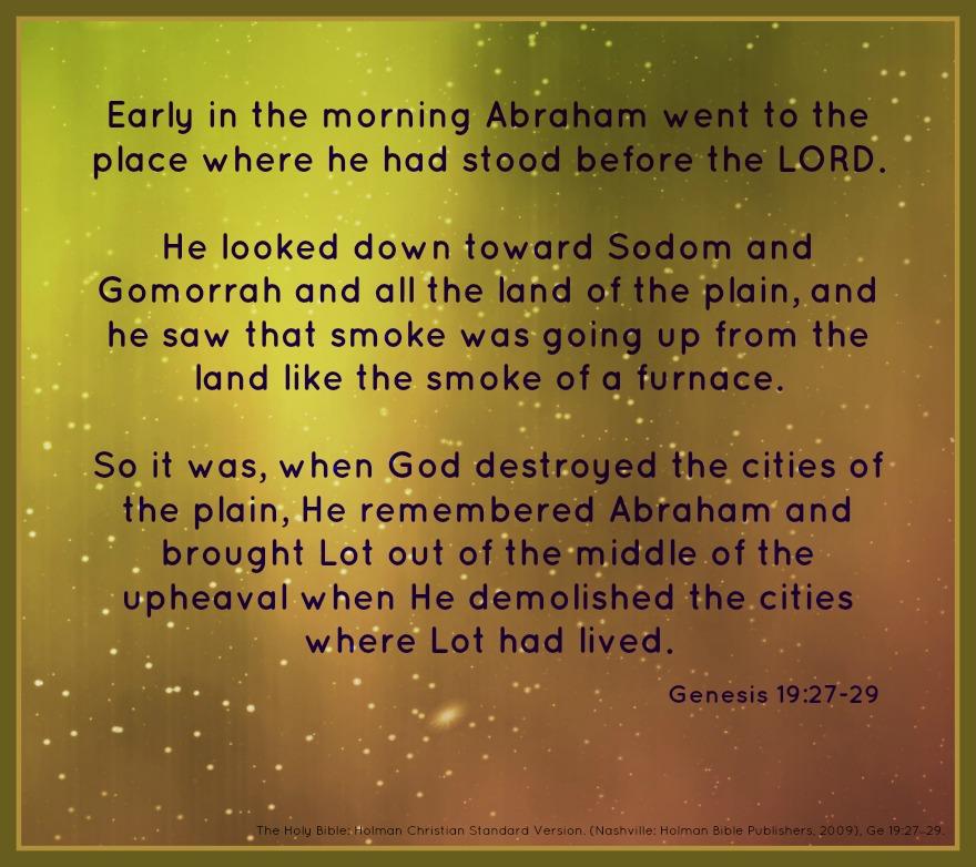 Genesis 19:27-29