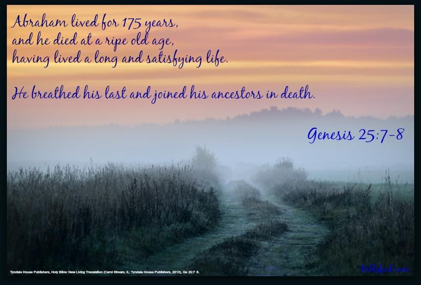 Genesis 25:7-8