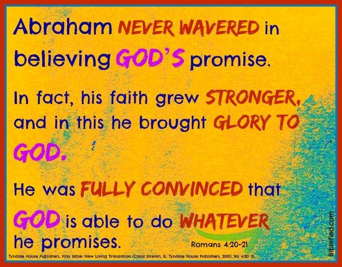 Rom 4:20-21